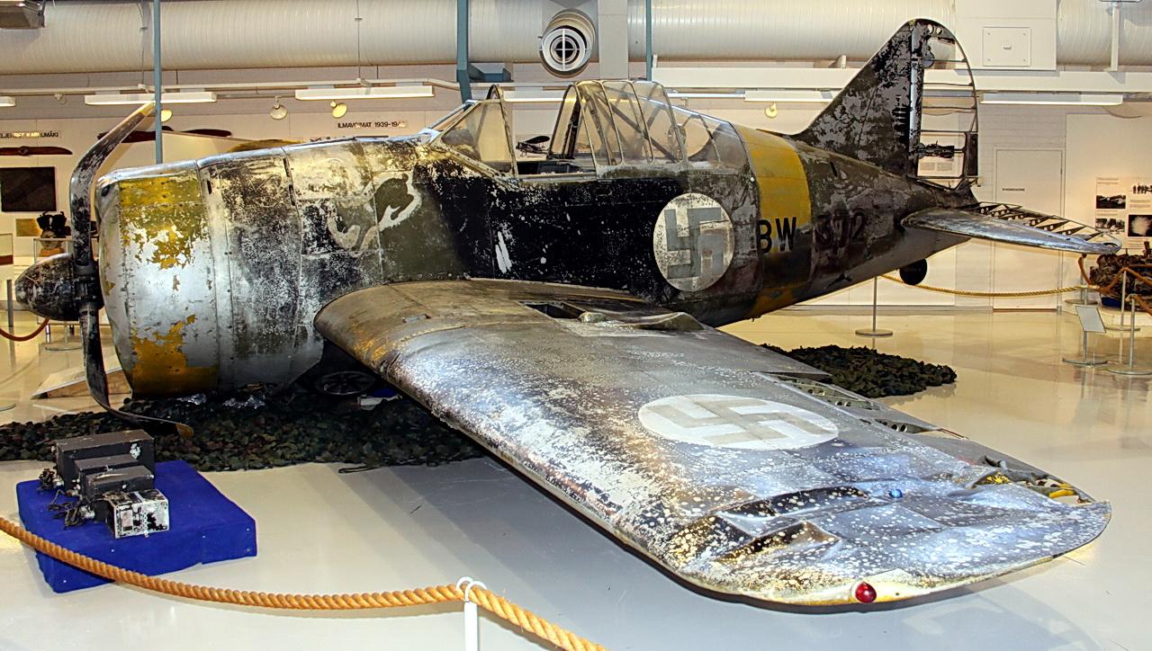 Abandoned Car In Swamp Wallpaper Asisbiz Brewster Buffalo Mki Faf Bw372 Finland Museum 01