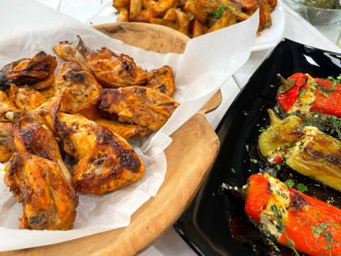 Παϊδάκια κοτόπουλο στο φούρνο με πατάτες σoτέ
