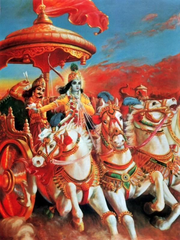 Arjuna Krishna Bhagavad Gita