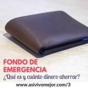 Fondo de emergencia ¿Qué es y cuánto dinero debo tener ahorrado?