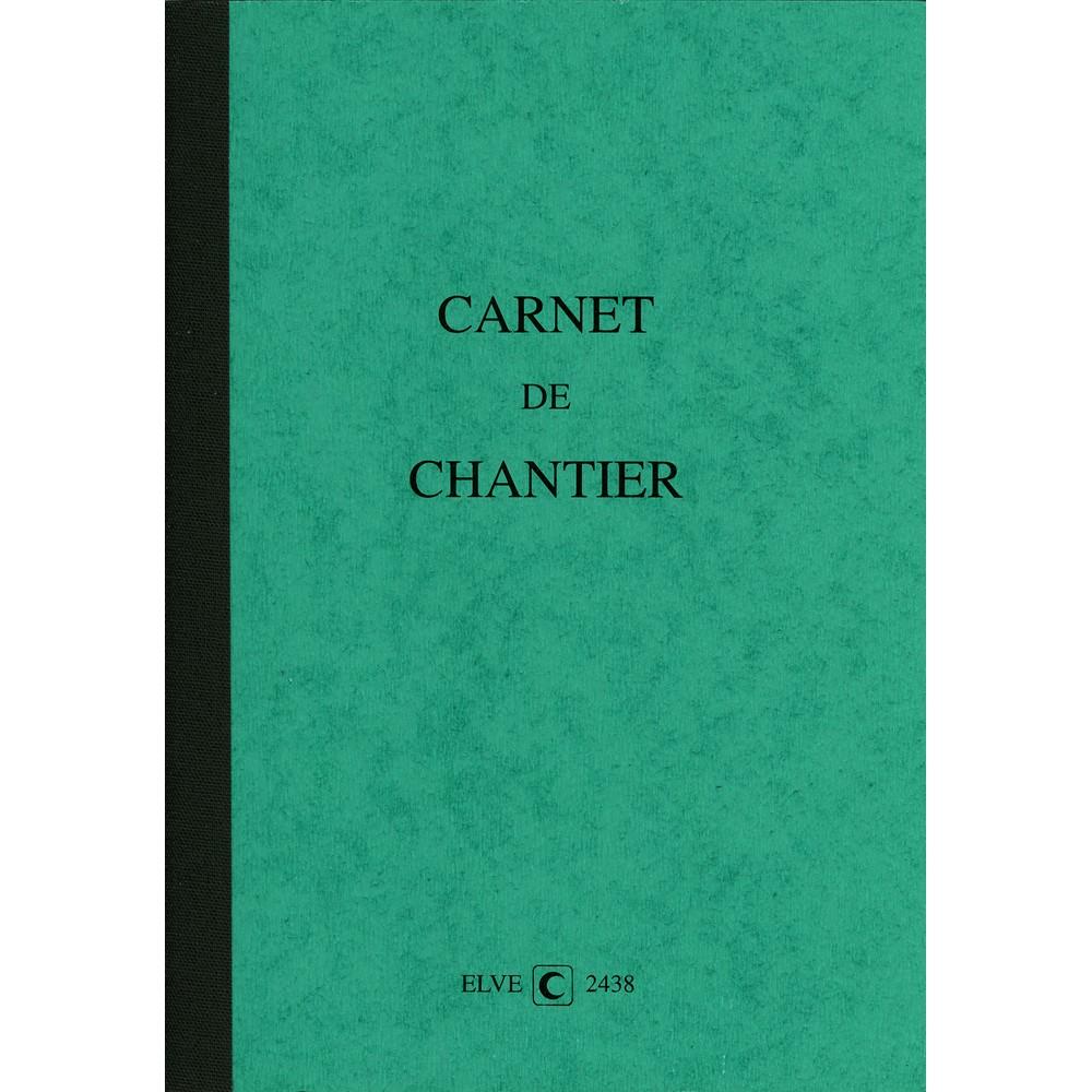Carnet De Chantier Hebdomadaire 7 Jours ELVE 2438