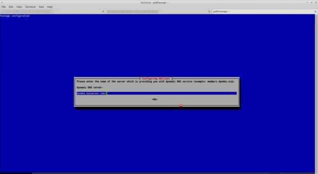 Run a DynDNS client under Raspbian - DynDNS Server
