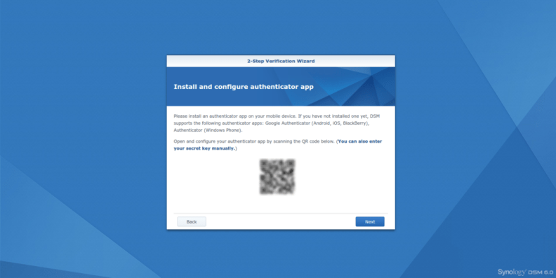 Synology Diskstation Google Authentication reset step2