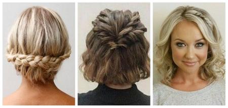 Penteados bonitos com tranças no cabelo médio: foto