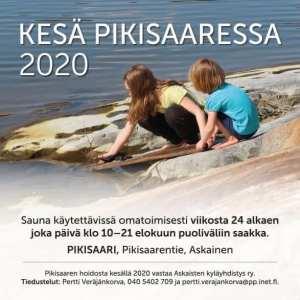 Pikisaaren hoidosta vastaa Askiko ry @ Pikisaaren uimaranta