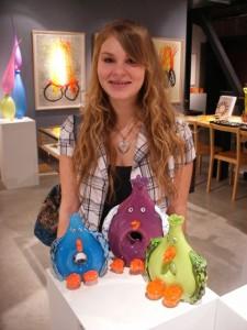 Glass Art Student