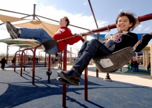 Swings in Playground
