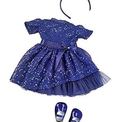 Amy Blue Sparkle Dress