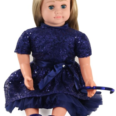 ask amy doll blonde blue dress