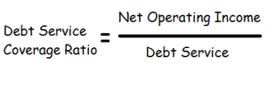 dividing net operating income by total debt service.
