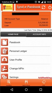 Synd e-passbook Dashboard