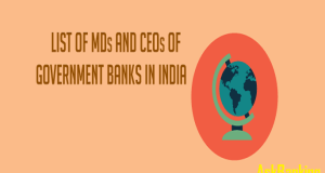 Public Sector Bank List of MD and CEO