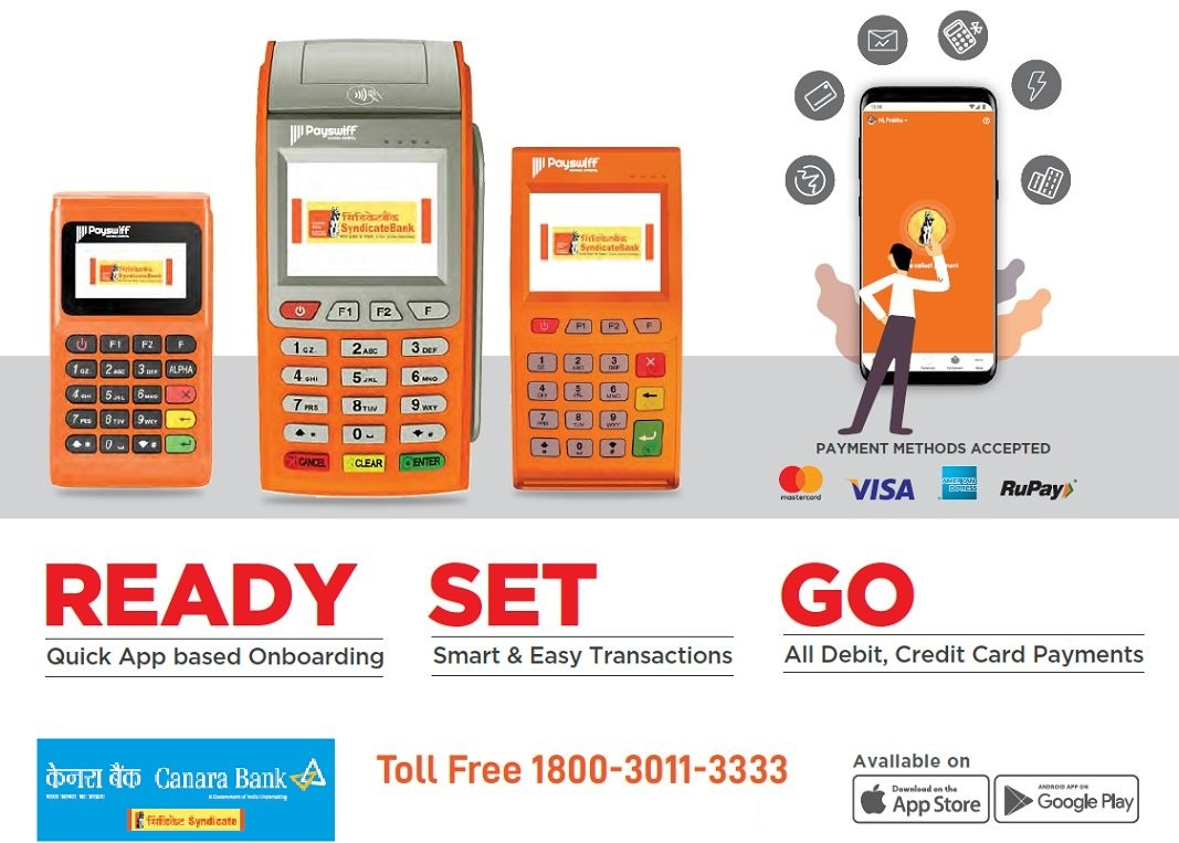 Canara Bank Payswiff PoS MDR Charges