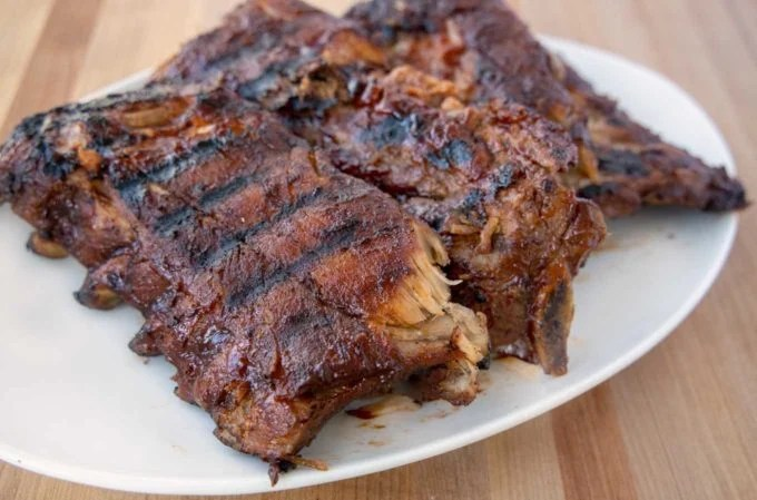 dry rub grilled baby back ribs step