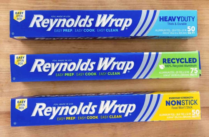 three varieties of Reynolds foil