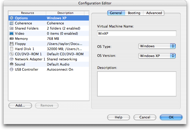 Parallels VM Configuration Editor