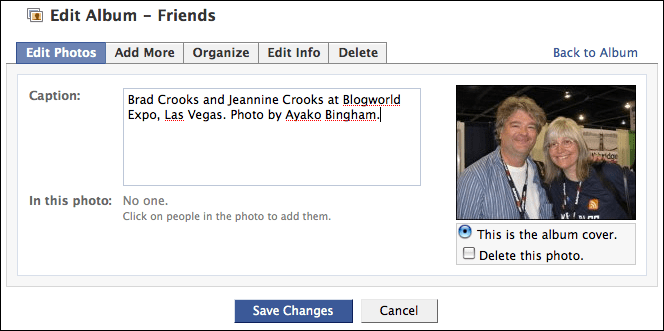 facebook edit album photos. Here's where there's a secret shortcut you can