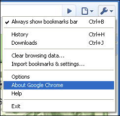 google chrome about