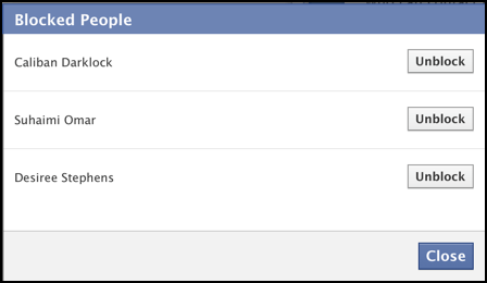 users people blocked on facebook