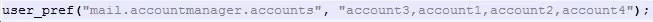 Thunderbird email accounts reoder