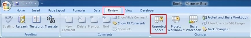 Excel Insert button greyed out-Unprotect