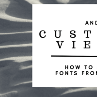 How to create custom view in Android and apply the custom font from xml.