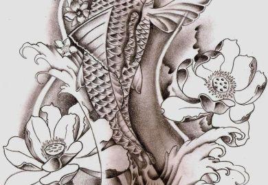 Koi Fish Dragon Tattoo Designs