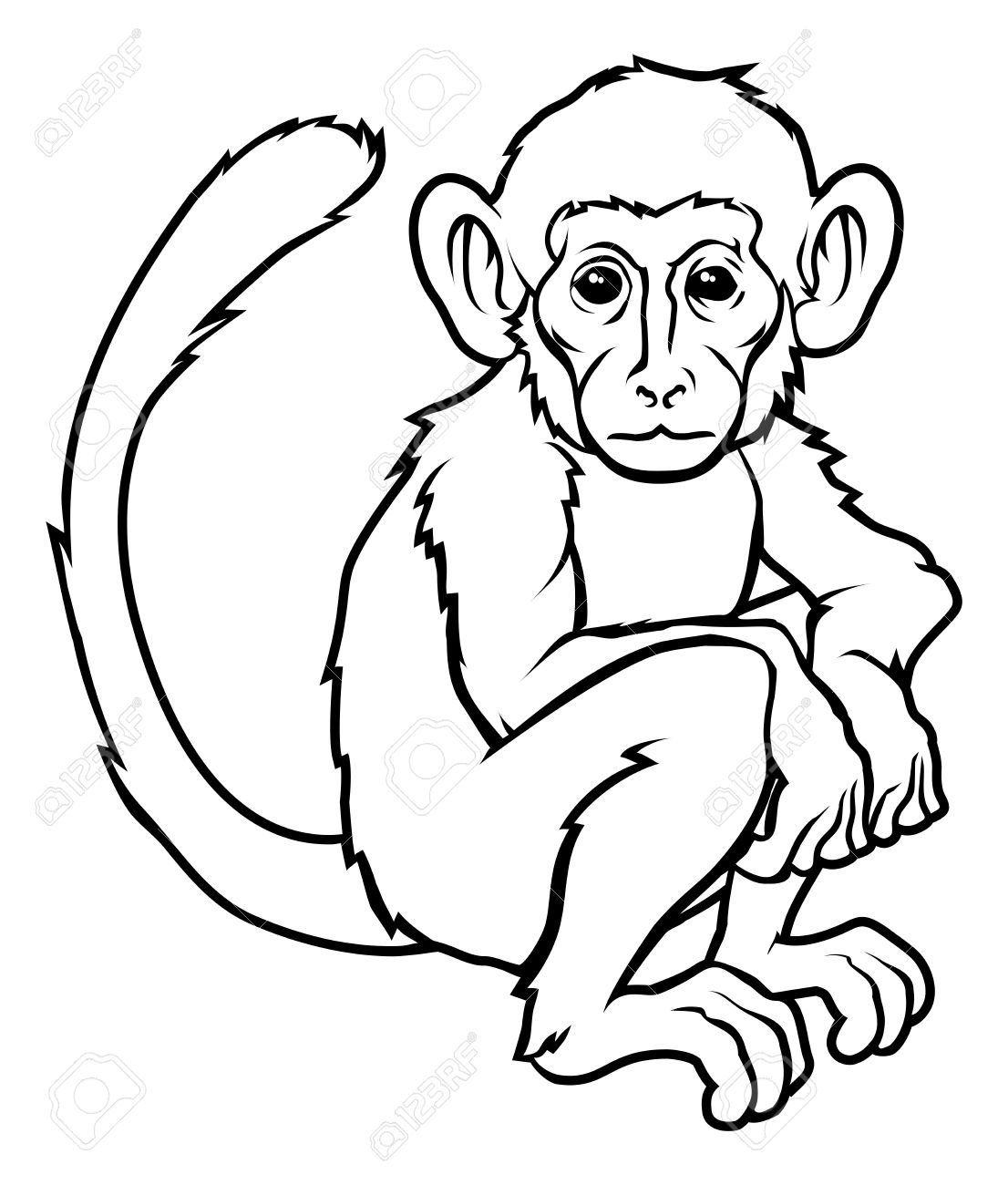 Monkey Line Drawing Gallery