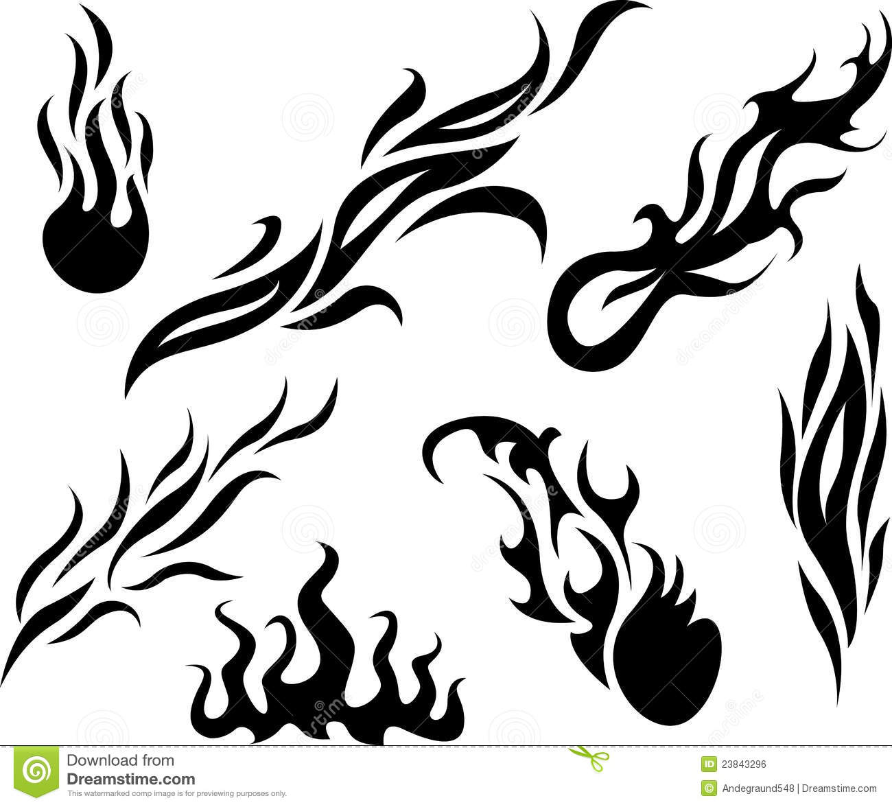 3 Simple Tribal Flame Tattoo Designs And Ideas