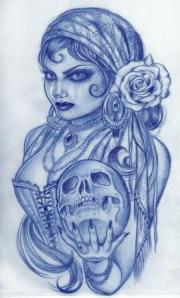 latest gypsy tattoo design