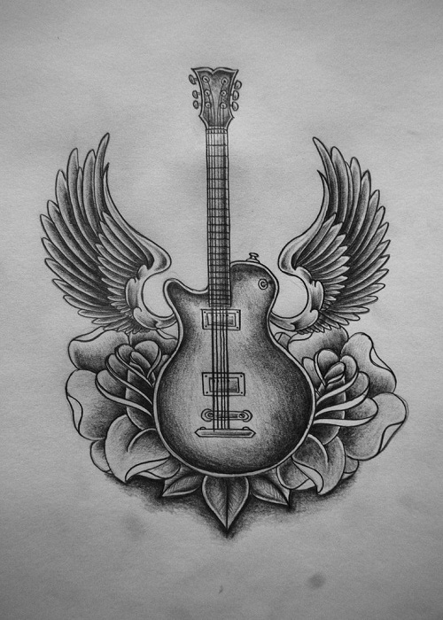 20 Guitar Drawings Tattoos Ideas Ideas And Designs
