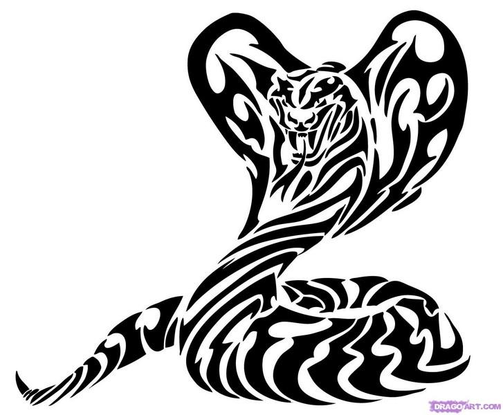 Black And Grey Tribal Lion Tattoo