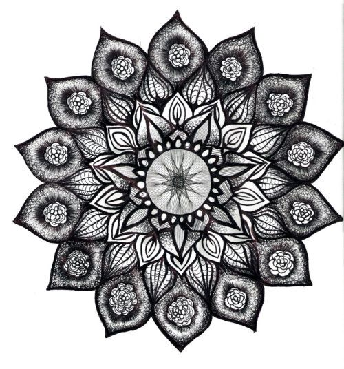 20 Sunflower Mandala Tattoos Black And White Ideas And Designs
