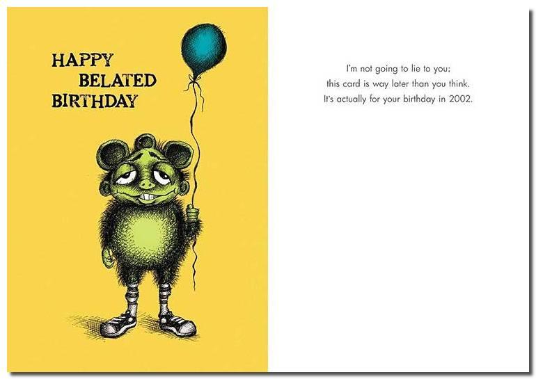 Belated Birthday Card Card Design Template