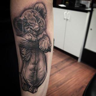 Cute Lion Cub Tattoo