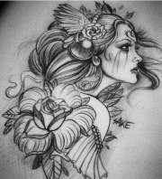 flower tattoo design samples