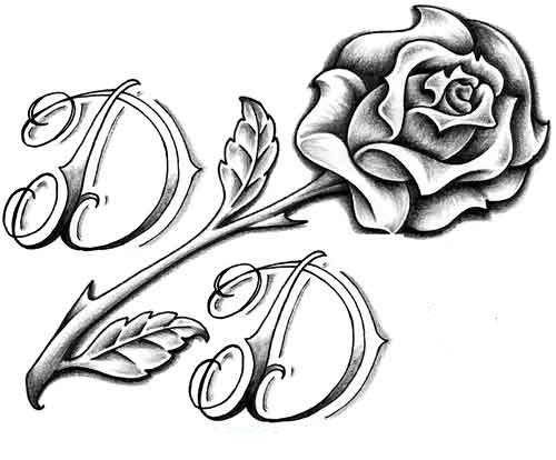 20 letter rose tattoos ideas and designs