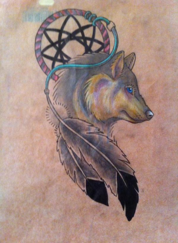 20 Wolf Dream Catcher Tattoos With Meaning Ideas And Designs