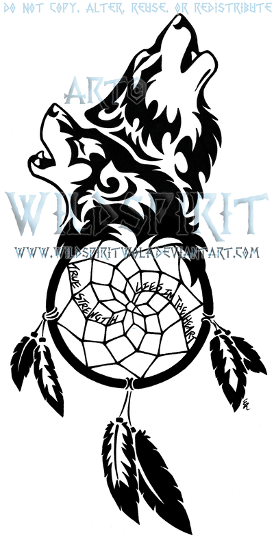 20 Indian Tattoos Dream Catchers With Wolves Ideas And Designs