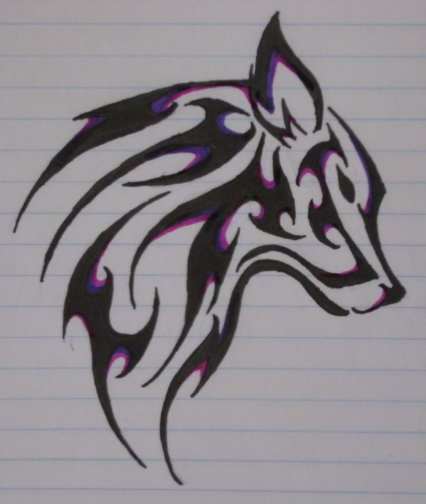 Wolves Tattoo Designs Drawings