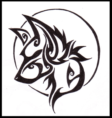 a928ebcdf 20 Simple Tribal Tattoos Wolves Ideas And Designs
