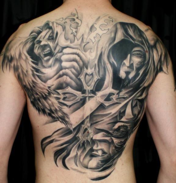 angel and demon tattoos