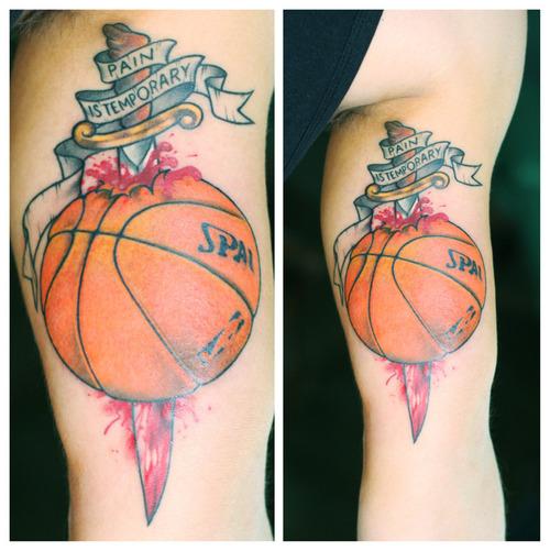 inspiring basketball tattoo