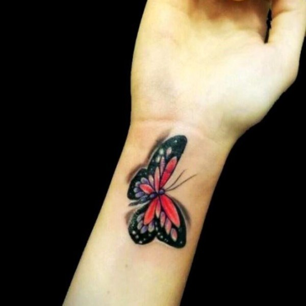 20 3d Butterfly Tattoos Wrist White Ideas And Designs