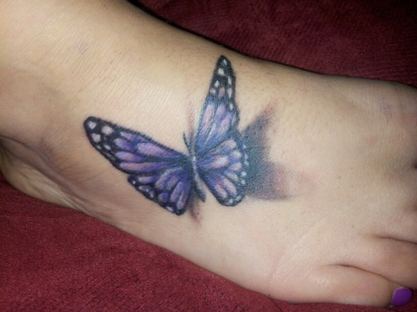 20 Blue And Purple Butterfly Tattoos Ankle Ideas And Designs