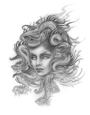 awesome medusa face tattoos