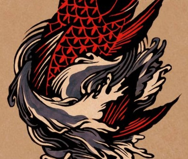 Unique Black And Red Fish Tattoo Design By Eleanor Lutz