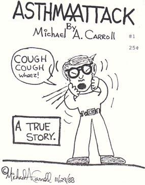 Funny Asthma Attack By Michael Carroll Funny Cartoon