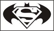 black superman and batman logo