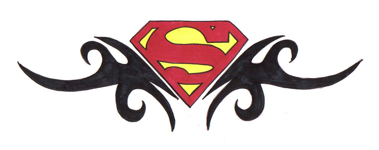 superman logo tattoo design